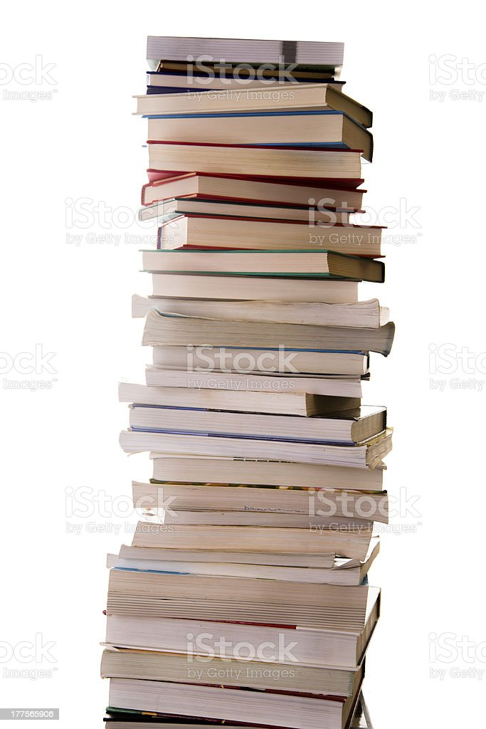 Education and Business:  Tall stack of books. royalty-free stock photo