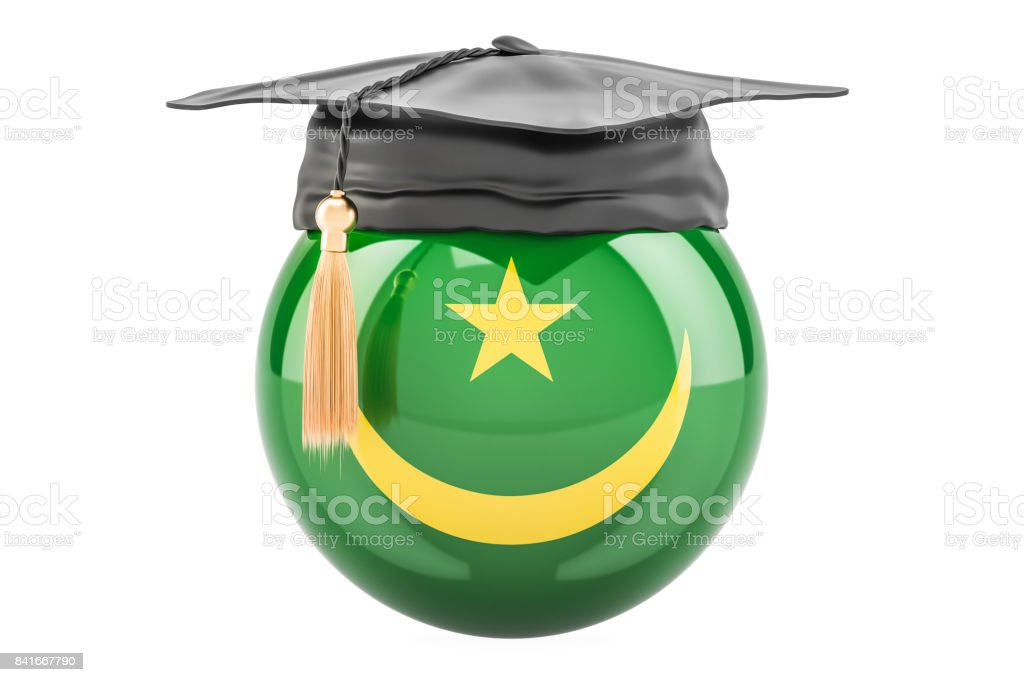 education and study in Mauritania concept, 3D rendering stock photo