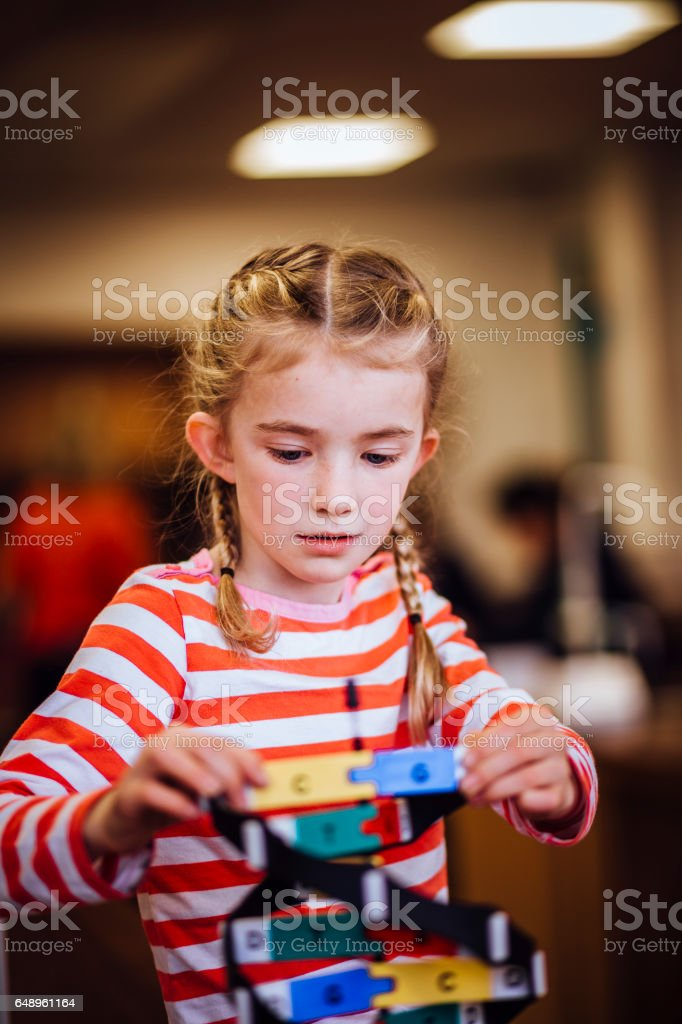 Education at her finger tips stock photo