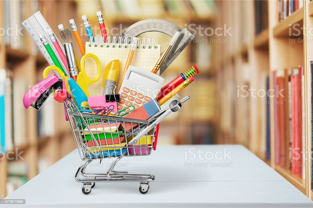 Education, Back to School, Shopping stock photo
