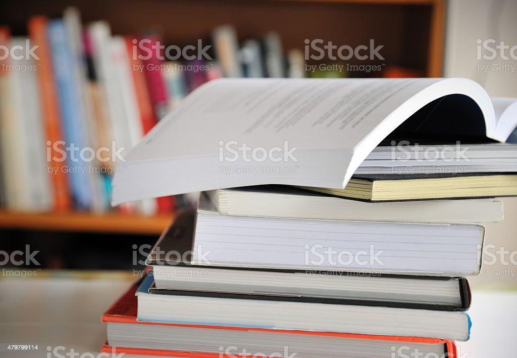 Education books stock photo