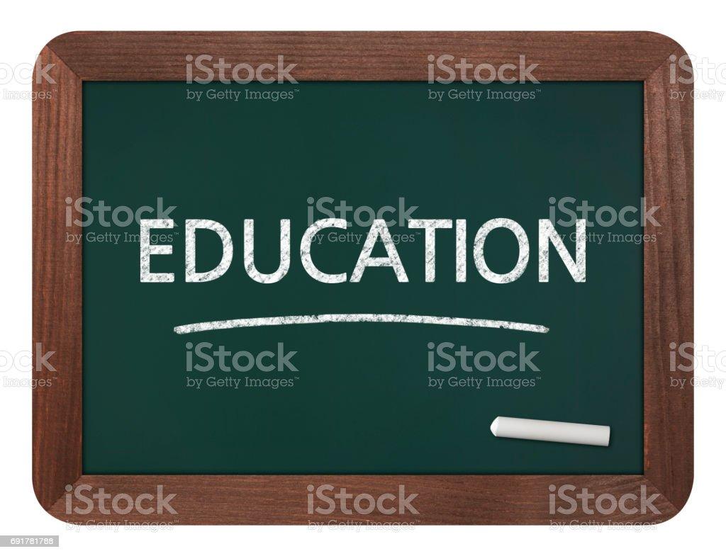 Education - Business Chalkboard Background stock photo
