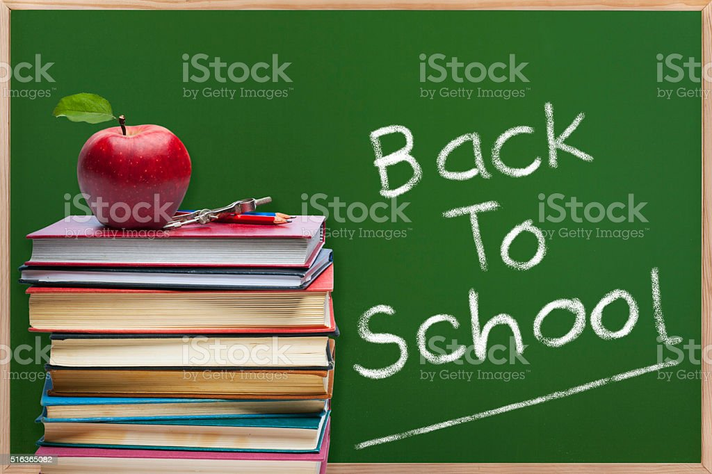 Education concept - Back to school stock photo