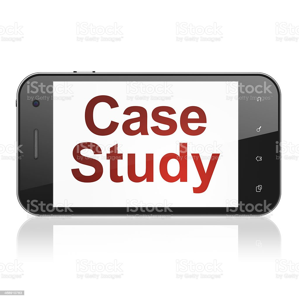 Education concept: Case Study on smartphone stock photo