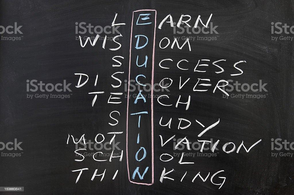 Education concept crosswords royalty-free stock photo