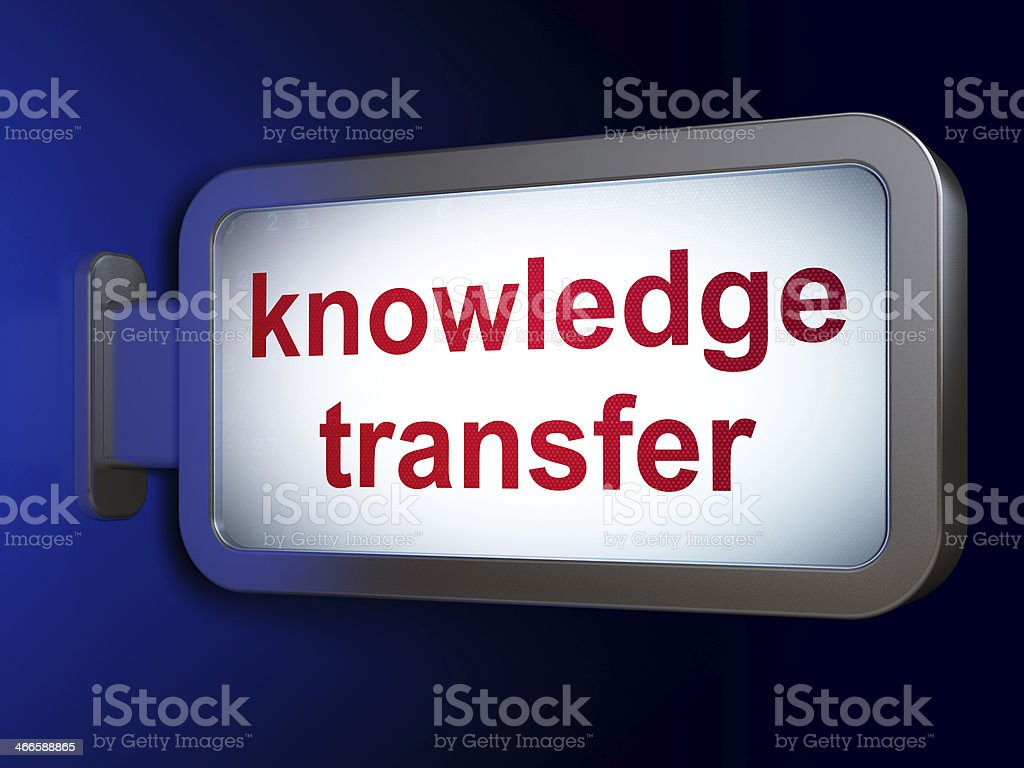 Education concept: Knowledge Transfer on billboard background royalty-free stock photo
