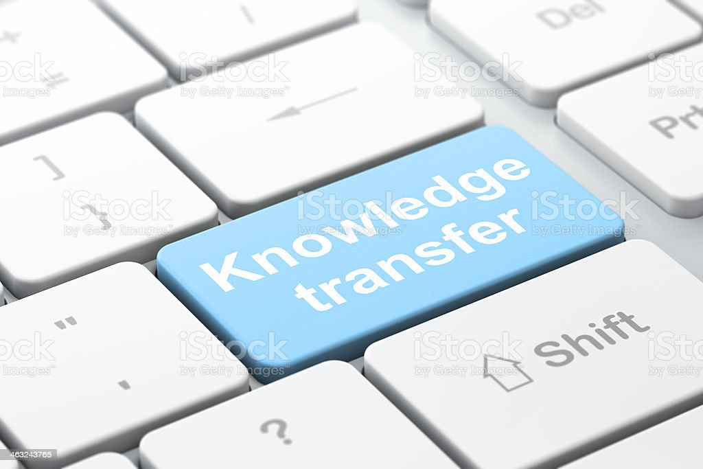 Education concept: Knowledge Transfer on keyboard background stock photo