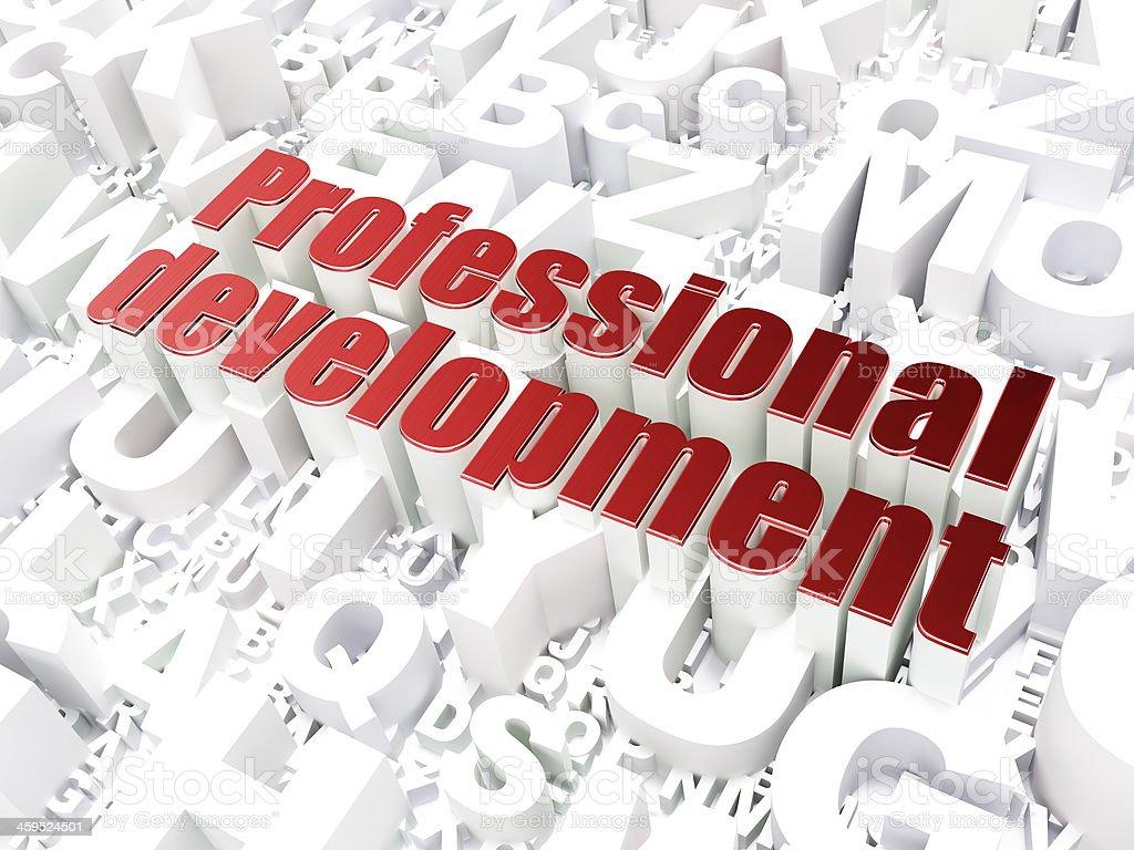 Education concept: Professional Development on alphabet backgrou stock photo