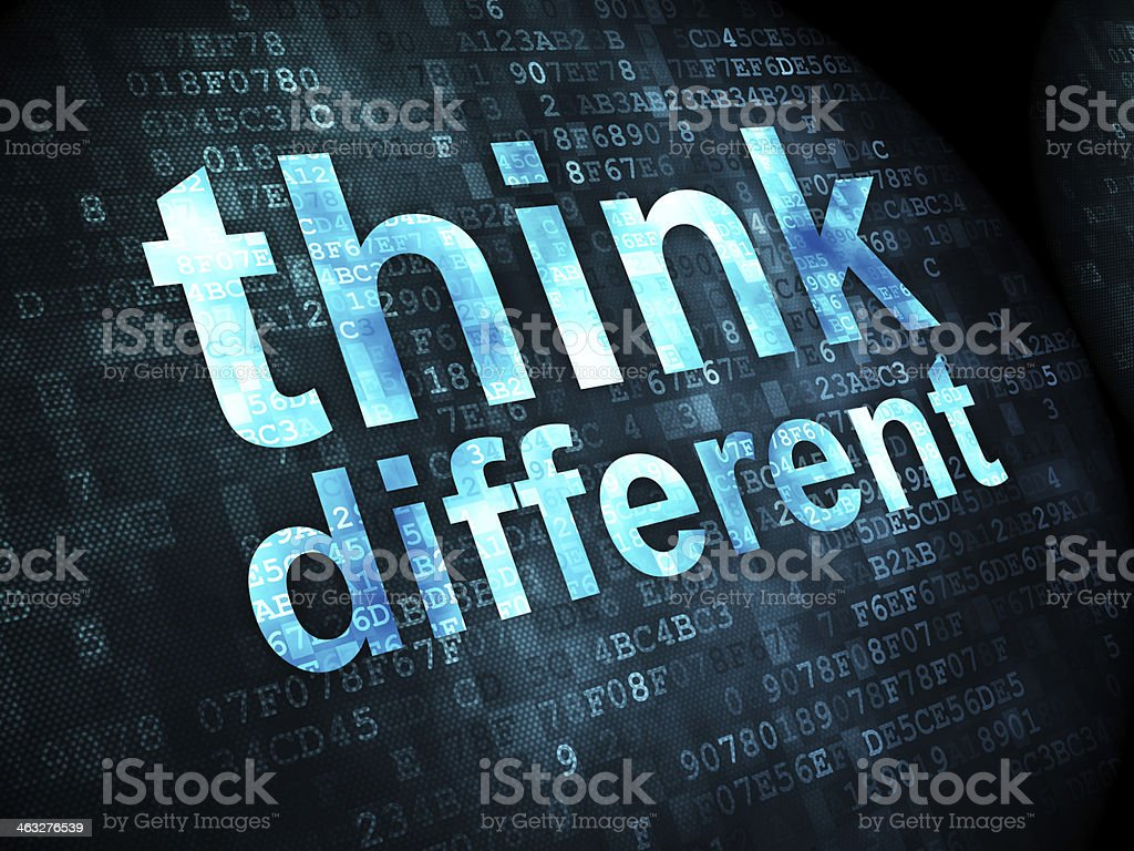 Education concept: Think Different on digital background stock photo