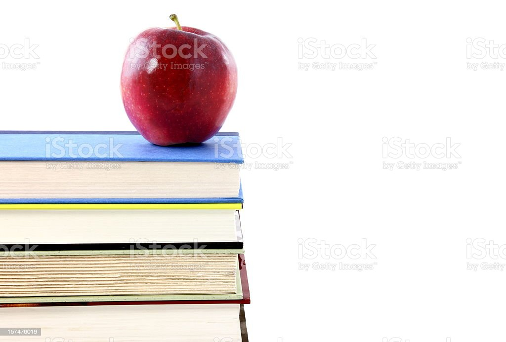 Education Concept with Books and Apple royalty-free stock photo