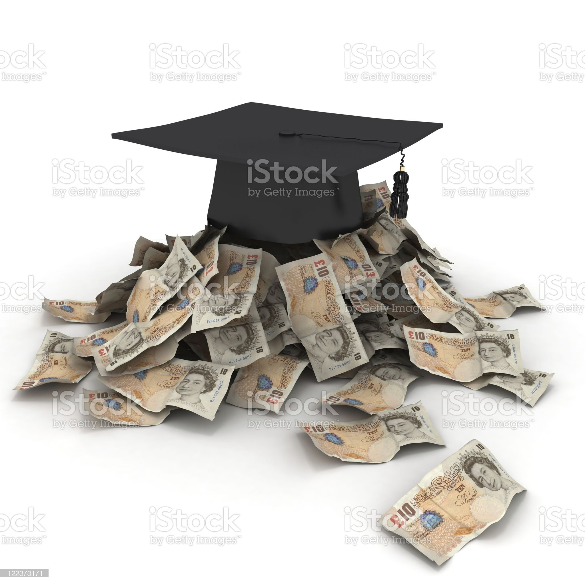 Education Costs - Pounds royalty-free stock photo