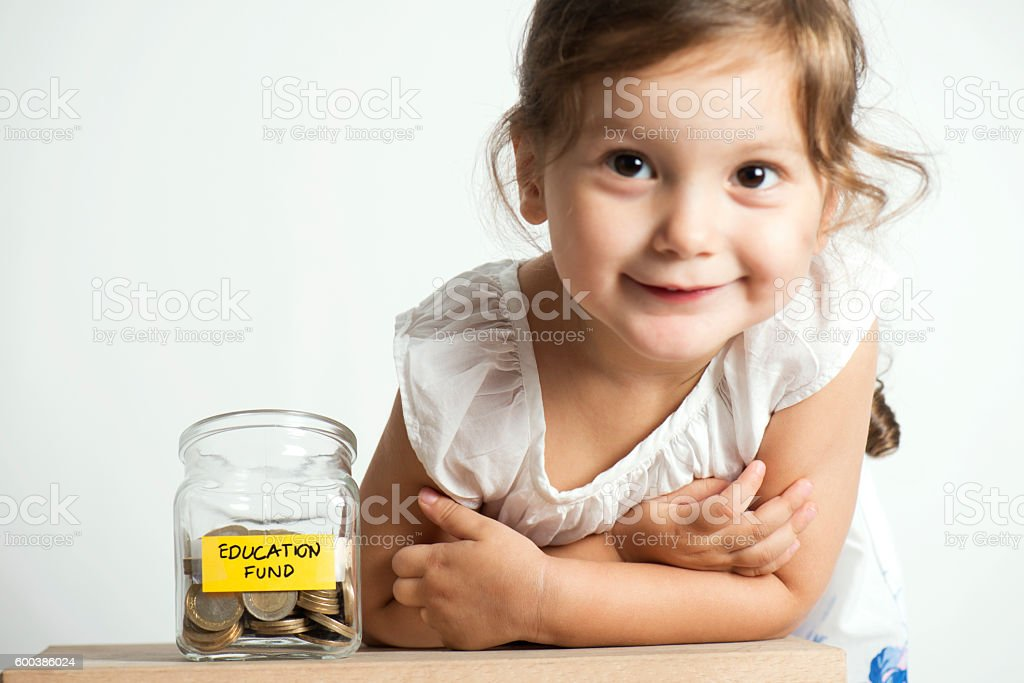 Education Fund in Jar stock photo