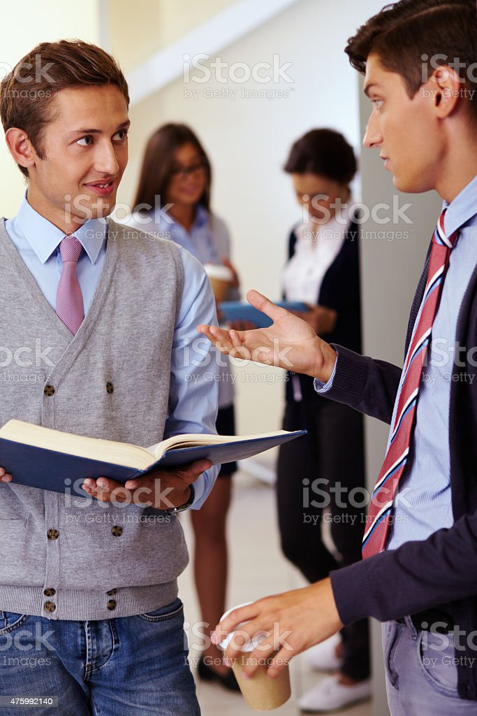 Education in college stock photo