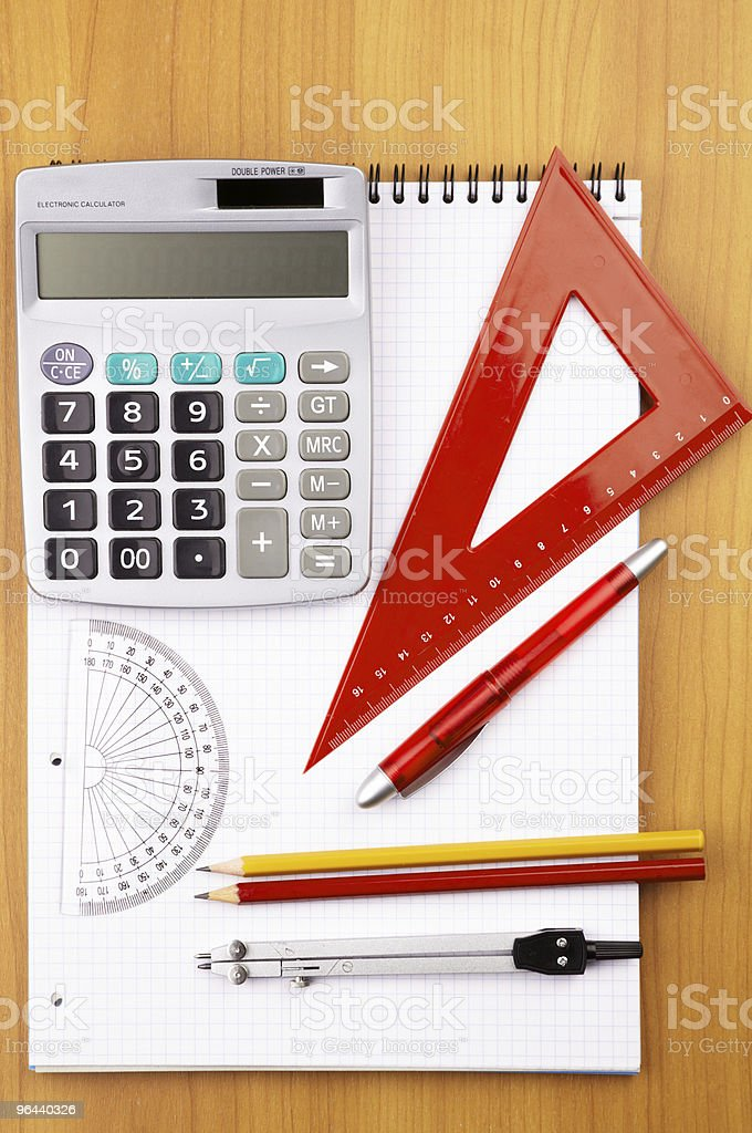 education items royalty-free stock photo