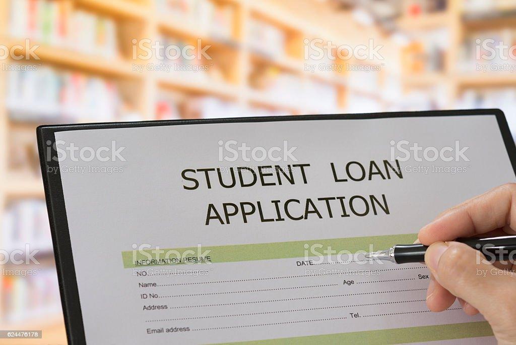 education loan stock photo