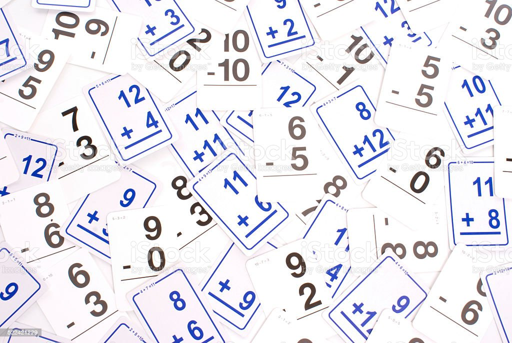 Education: Math - Addition and Subtraction stock photo