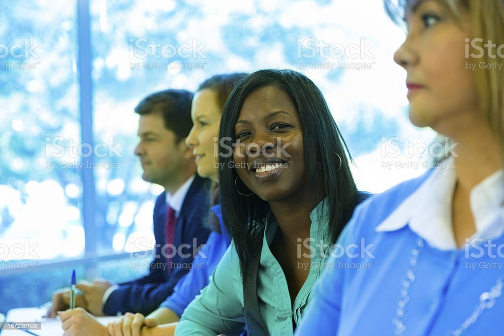 Education:  Mature students in classroom. royalty-free stock photo