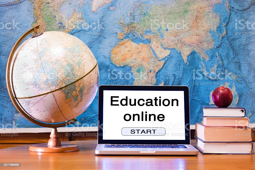 education online concept stock photo