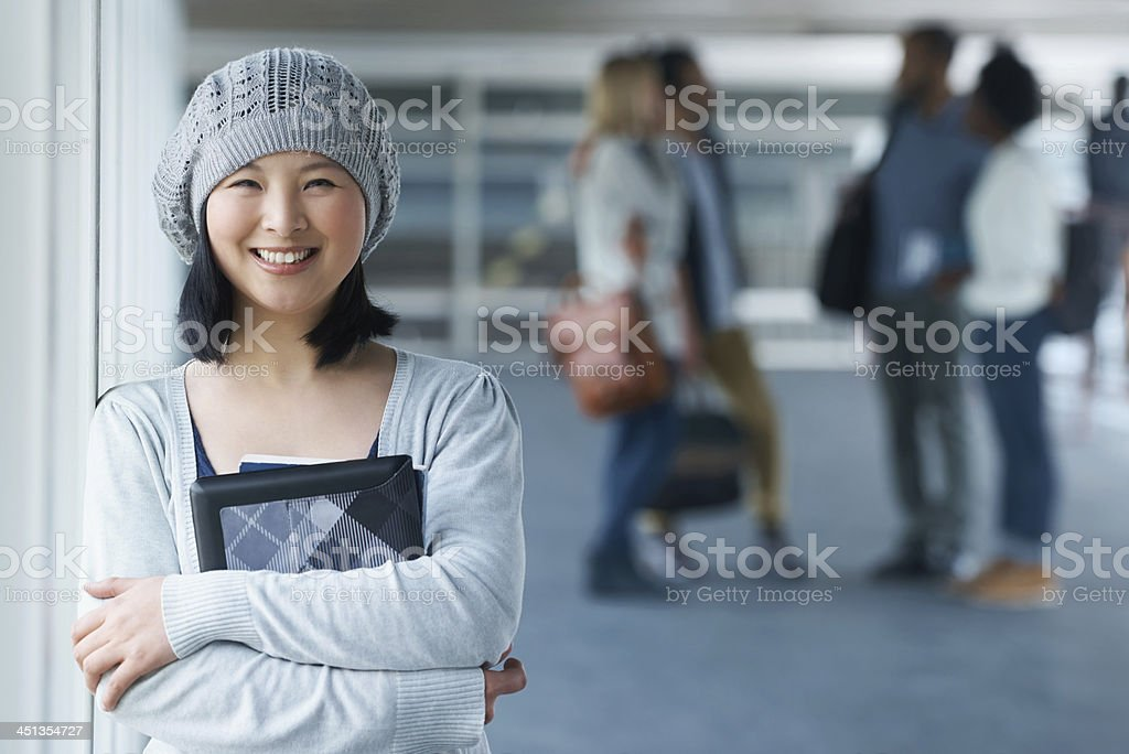 Education opens the doors to my dreams stock photo