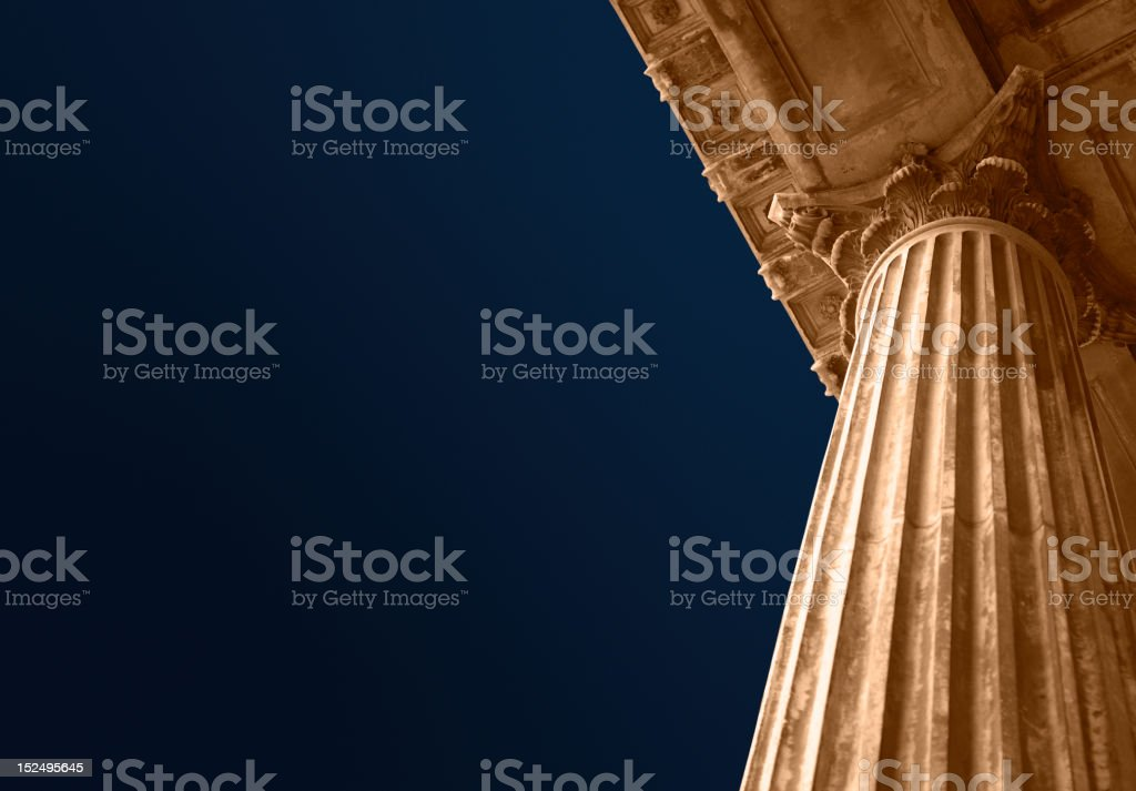 Education or court columns stock photo