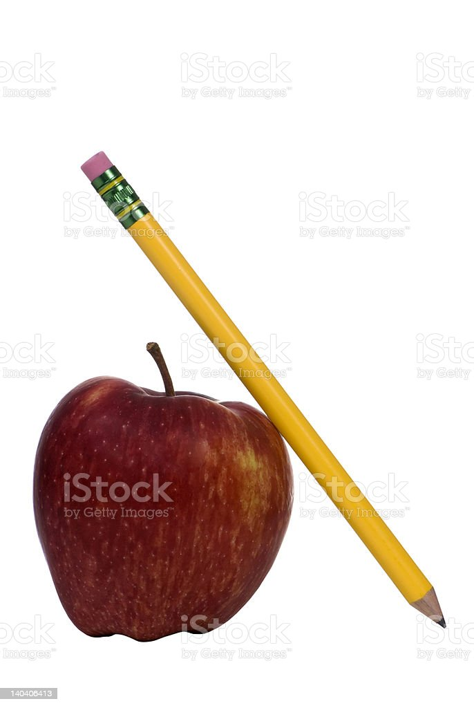 Education Series (apple and pencil) royalty-free stock photo