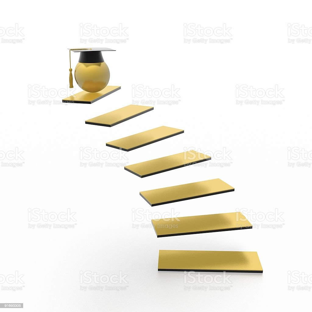 education stairway royalty-free stock photo