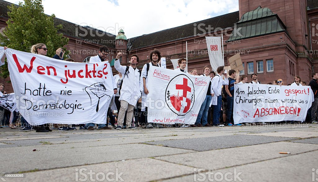 Bildungsstreik 2014 royalty-free stock photo