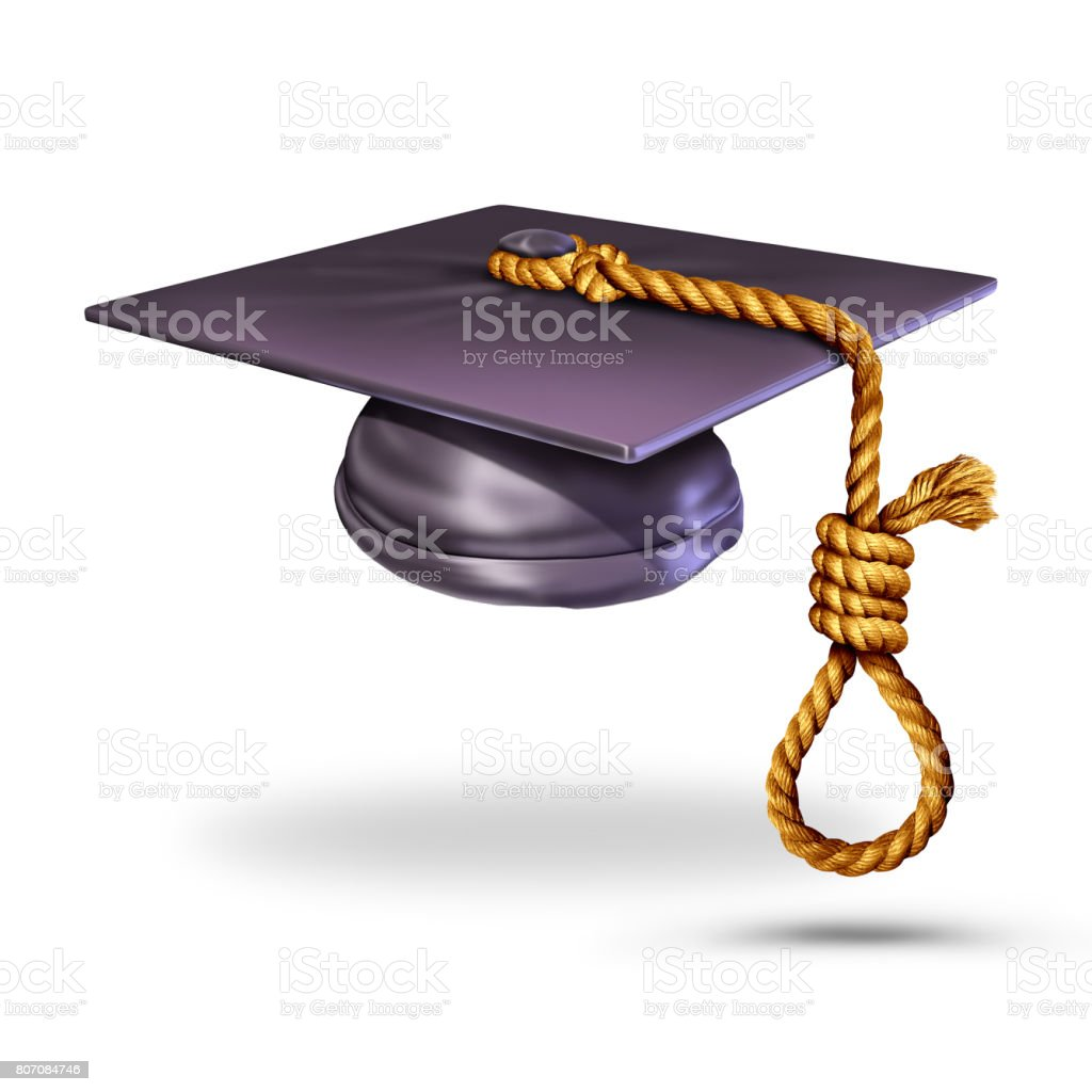 Education Suicide stock photo