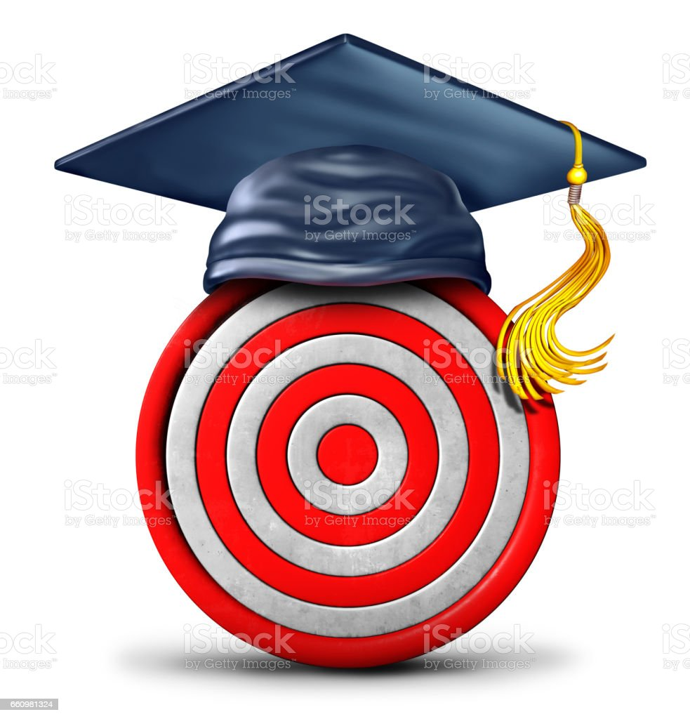 Education Target stock photo