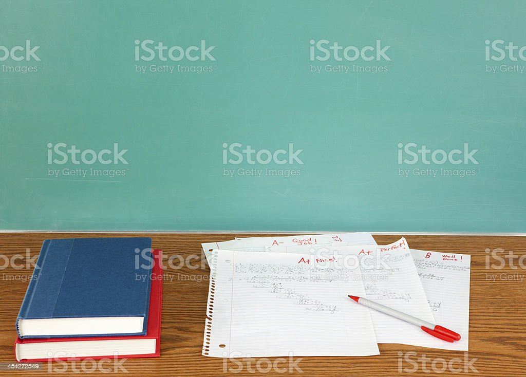 Education: Tests or Homework stock photo