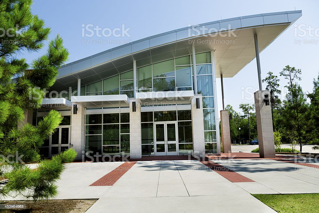Education:  University building on campus. Or modern office. royalty-free stock photo
