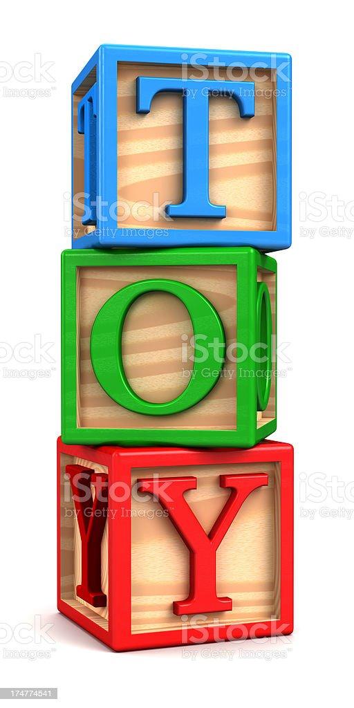 education wooden blocks royalty-free stock photo