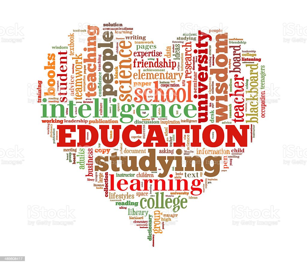 Education word cloud royalty-free stock photo