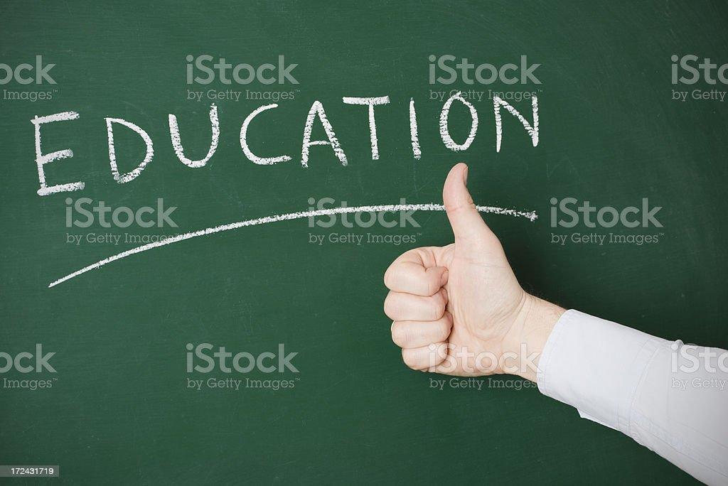education written on a chalkbard royalty-free stock photo