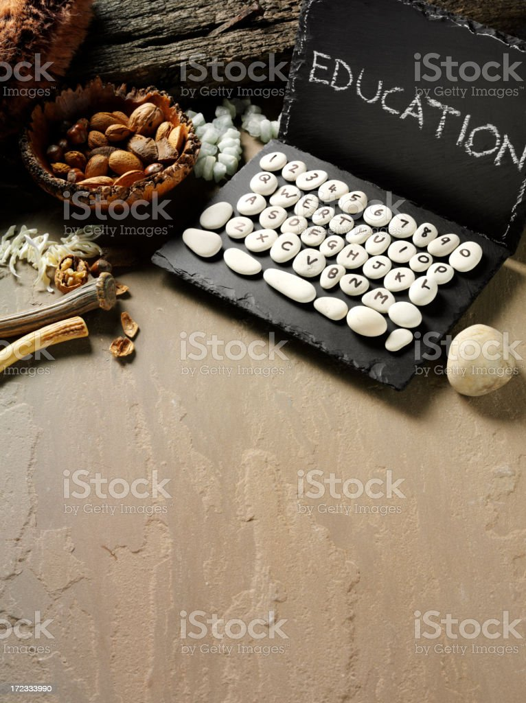 Education Written on a Prehistoric Computer royalty-free stock photo