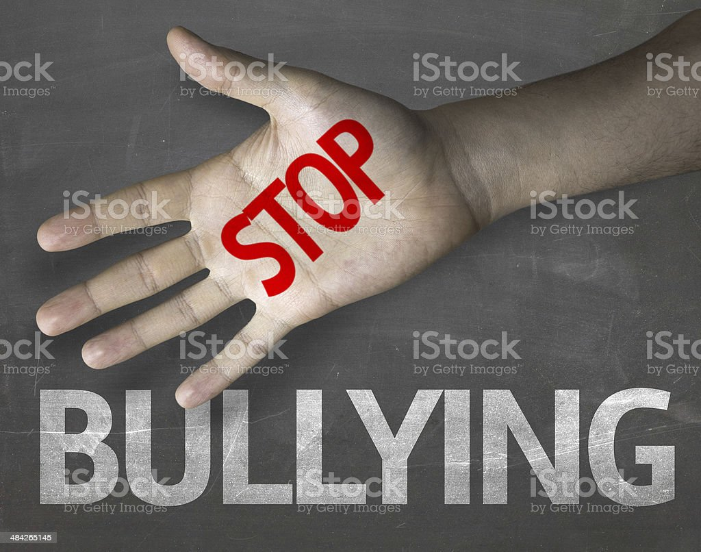 Educational and Creative composition with the message Stop Bullying stock photo