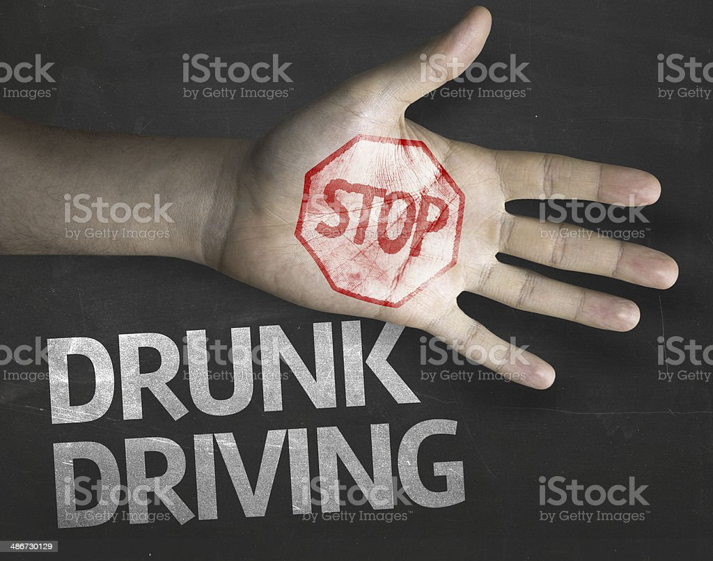 Educational and Creative composition with the message Stop Drunk Driving stock photo