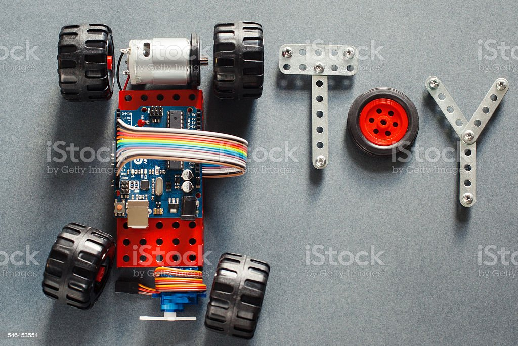 Educational diy toy for adults, electronics stock photo