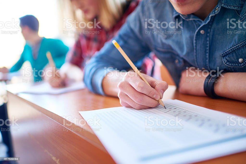 Educational testing stock photo