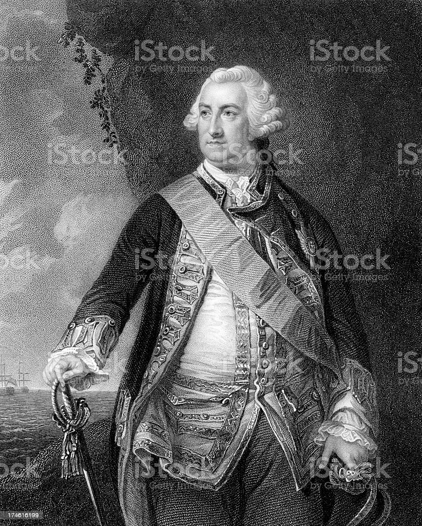 Edward Hawke, 1st Baron royalty-free stock photo