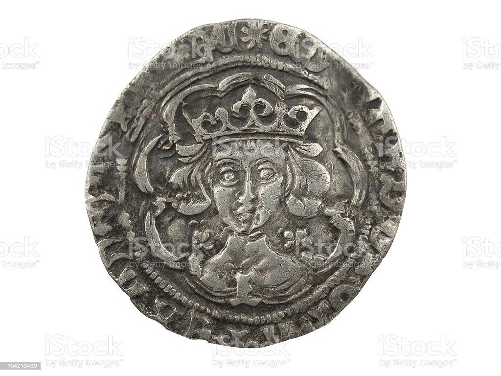 Edward IV Silver Coin 1464-1470 royalty-free stock photo