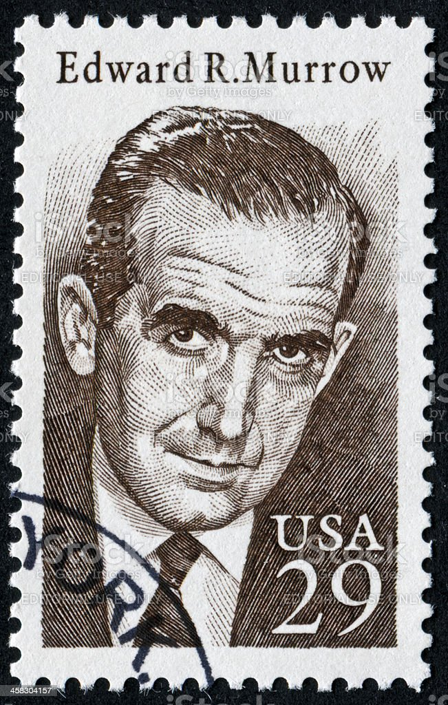 Edward R. Murrow Stamp royalty-free stock photo