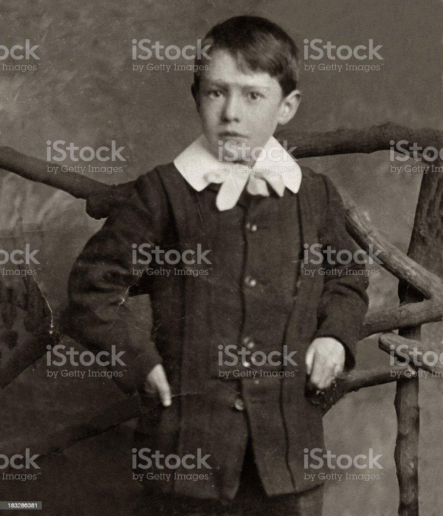 Edwardian Boy stock photo