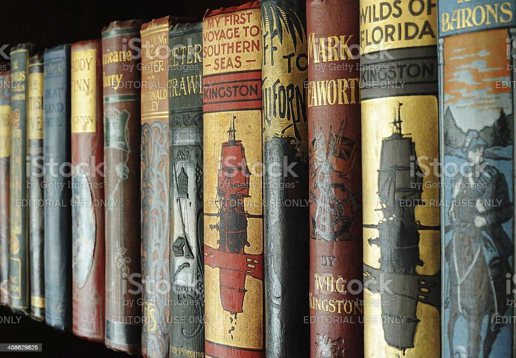 Edwardian Children's Books royalty-free stock photo