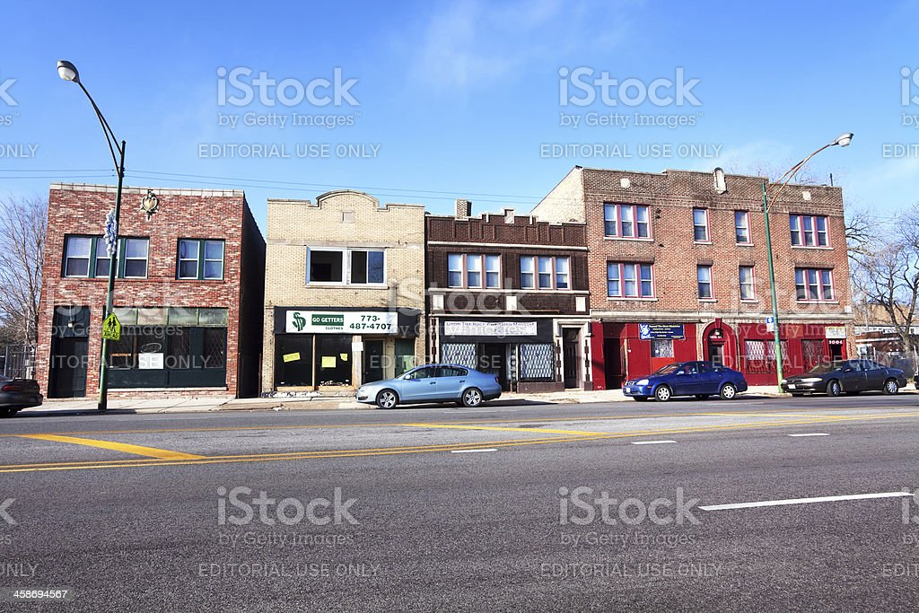 Edwardian commercial buildings, Cottage Grove Avenue in Chatham, stock photo