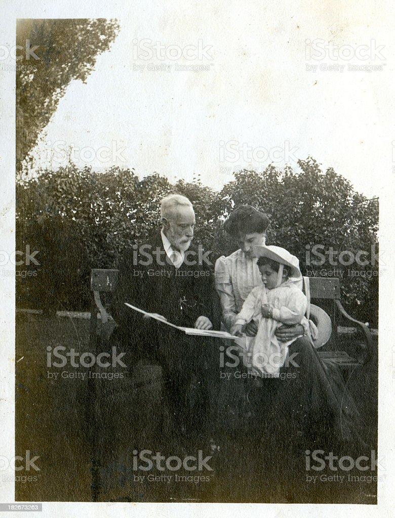 Edwardian family stock photo