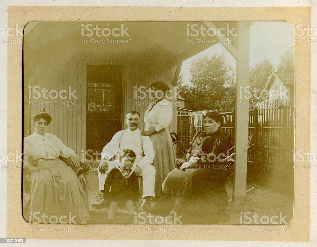 Edwardian Family Vintage Photograph royalty-free stock photo