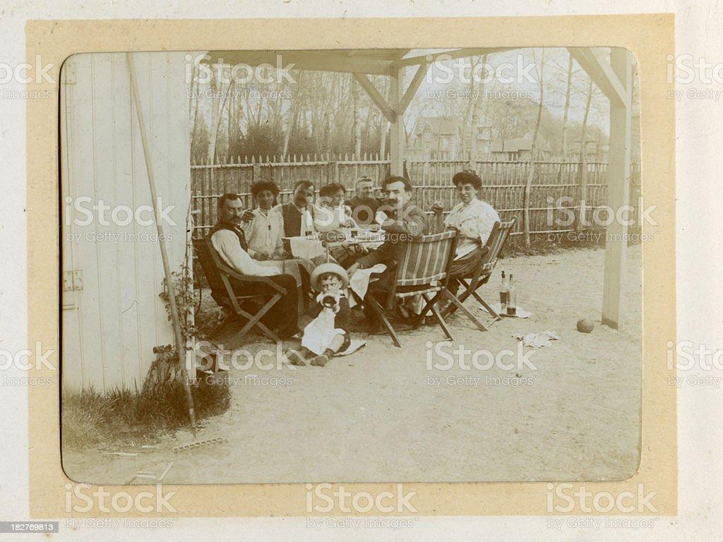 Edwardian Family Vintage Photograph stock photo