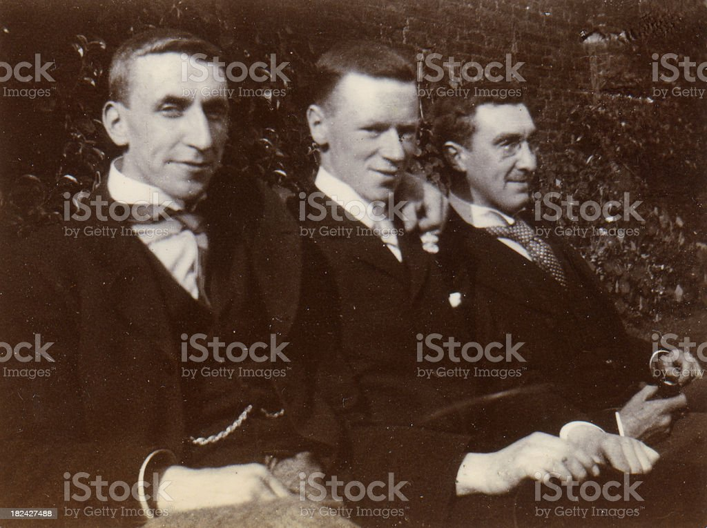 Edwardian Gentlemen royalty-free stock photo