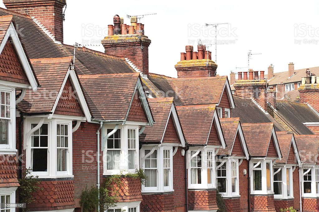 Edwardian Terrace in the heart of Southeast England royalty-free stock photo
